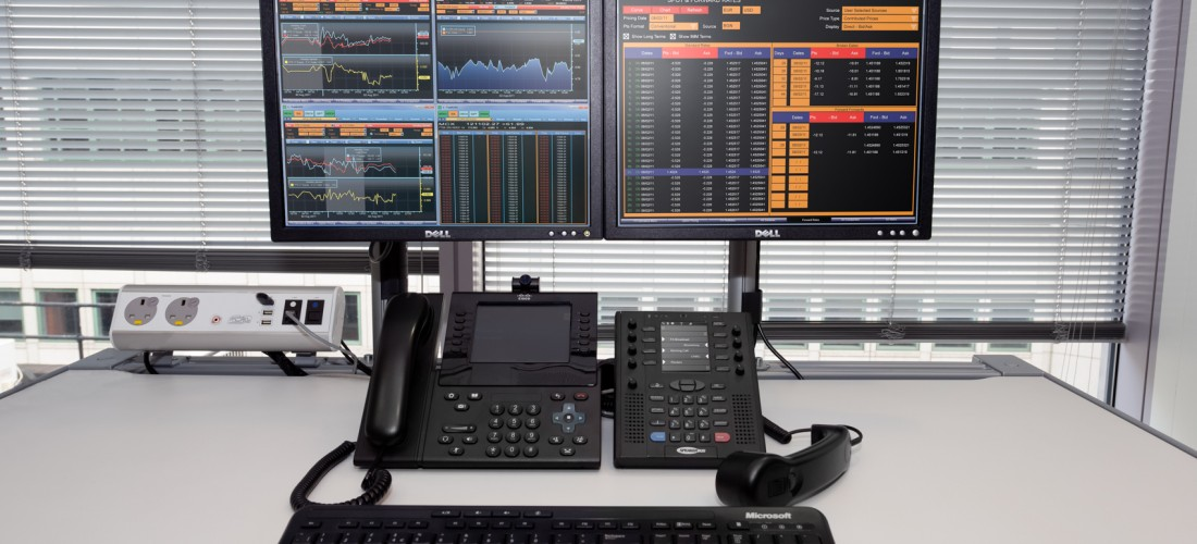 Scalable trader voice solution in compact form - Turret zero on desk
