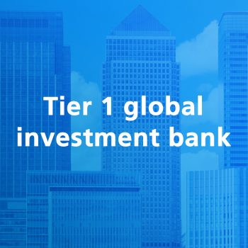 Tier1 global investment bank