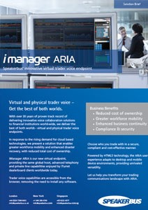 iManager aria brochure