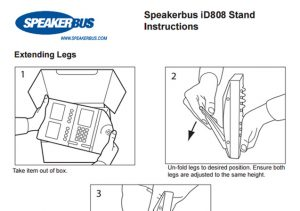 iD808 stand instruction
